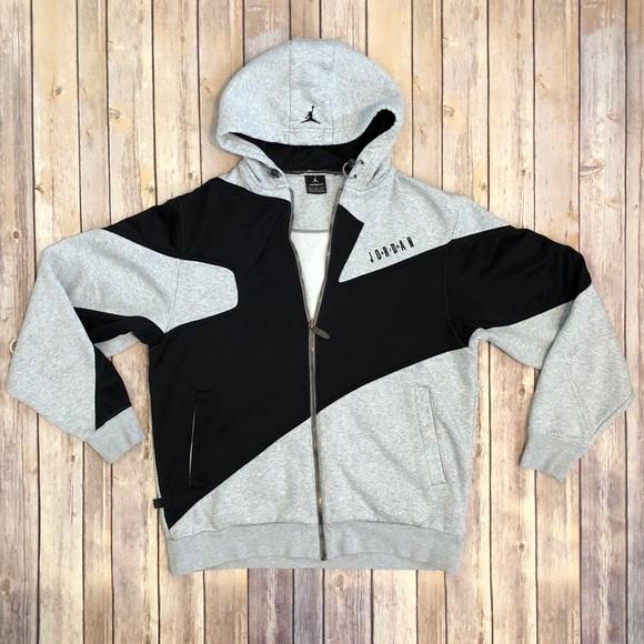 51b160c4771a8c Air Jordan Other - AIR JORDAN Mens Full Zip Hoodie Grey Black Large